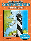 North Carolina Lighthouses Coloring Book Cover