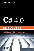 C# 4.0 How-To (How-To) Cover