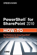 PowerShell for SharePoint 2010; how to