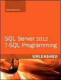 SQL Server 2012 T-SQL Programming Unleashed (Unleashed)