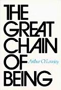 Great Chain of Being A Study of the History of an Idea