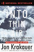 Into Thin Air: A Personal Account of the Mount Everest Disaster Cover