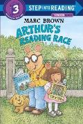 Arthur's Reading Race with Sticker (Step Into Reading Sticker Books)