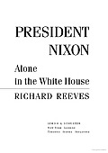 President Nixon Alone In The White House