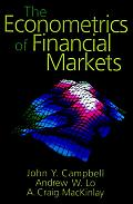 Econometrics of Financial Markets (97 Edition)