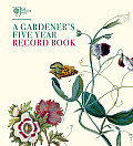 Royal Horticultural Society a Gardener's Five Year Record Book