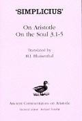 'Simplicius': On Aristotle on the Soul 3.1-5