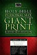 Personal Size Giant Print Reference Bible KJV