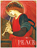 Red Harmonious Angel Boxed Draw Holiday Notecards
