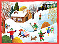 Winter Wonderland Boxed Draw Holiday Notecards