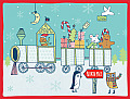 Kate Sutton Holiday Train Boxed Draw Holiday Notecards