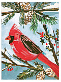 Red Cardinal Holiday Glitz