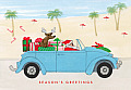 Santa's Beach Cruise Holiday Notecards [With 21 Envelopes]