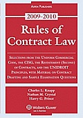 Rules of Contract Law, 2009-2010