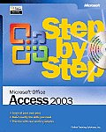 Microsoft Office Access 2003 Step by Step with CDROM (Step by Step) Cover