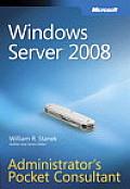 Windows Server 2008 Administrators Pocket Consultant
