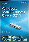 Windows small business server 2011; administrator's pocket consultant