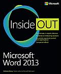 Microsoft Word 2013 Inside Out