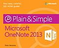 Microsoft(r) Onenote(r) 2013 Plain & Simple (Plain & Simple)