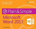 Microsoft(r) Word 2013 Plain & Simple (Plain & Simple)