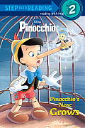 Pinocchio's Nose Grows (Disney Pinocchio) (Step Into Reading:) Cover