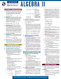 Algebra 2 - Rea's Quick Access Reference Chart (Quick Access)