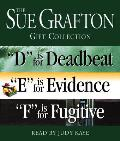 "Sue Grafton Def Gift Collection: D Is for Deadbeat, ""E"" Is for Evidence, ""F"" Is for Fugitive (Abridged) Cover"