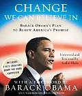 Change We Can Believe in: Barack Obama's Plan to Renew America's Promise Cover