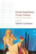 Great American Prose Poems From Poe To Cover