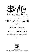 Lost Slayer 02 Dark Times Buffy The Vam