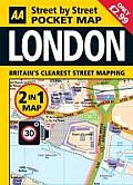 2 in 1 London Pocket Map: West End, City & South Bank