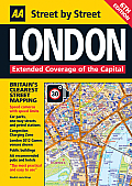 AA London Street by Street Map (AA Street by Street)