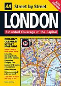 AA London Street by Street Map (AA Street by Street)