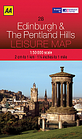 AA Leisure Maps #28: AA Leisure Map: Edinburgh & the Pentland Hills Cover
