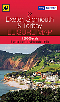Leisure Map Exeter, Sidmouth & Torbay