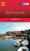AA North Norfolk Leisure Map 9