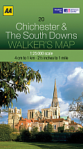 Walker's Map Chichester & the South Downs