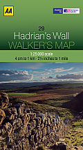 Walker's Map Hadrian's Wall