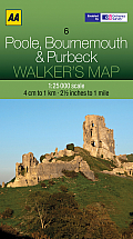 Walker's Map Poole, Bournemouth & Purbeck