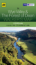 Walker's Map Wye Valley & the Forest of Dean