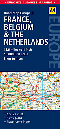 Road Map France Belgium & the Netherlands