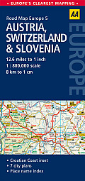 Road Map Austria Switzerland & Slovenia