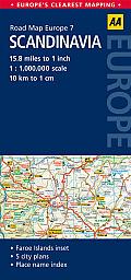 Road Map Scandinavia