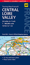 AA Touring Map France: Central Loire Valley