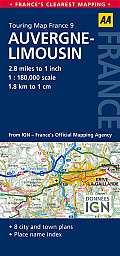 Road Map Auvergne & Limousin (Road Map France)