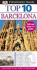 Top 10 Barcelona [With Map] (DK Eyewitness Top 10 Travel Guides) Cover