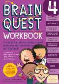 Brain Quest Grade 4 Workbook with Sticker and Cards and Poster (Brain Quest) Cover