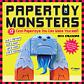 Papertoy Monsters Calendar: 12 Cool Papertoys You Can Make Yourself!