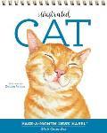 Illustrated Cat Page-A-Month Desk Easel Calendar 2016