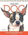 Illustrated Dog: Page-A-Month Desk Easel Calendar